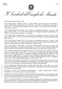 DPCM 18 10 2020